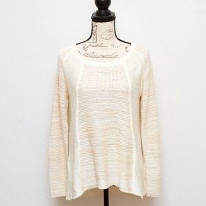 Carolyn Taylor Sweater Womens Medium Cream Color